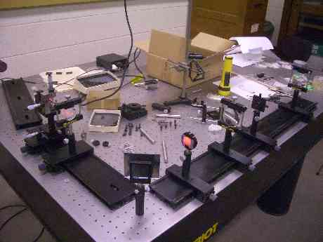 physics research project equipment