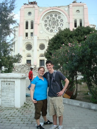 Caitlin and Terry in Haiti