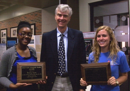 Dr. Holmes with Dominic Dunn award winners in 2011