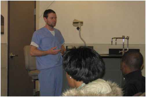 Dr. Adam Cartwright at Dr. Fitzgerald's Biocareers class