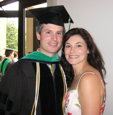 Stephen Wetick and wife at SCO graduation