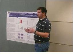 Scott Parker presenting his research.