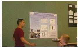 Joe Fong presenting his research.