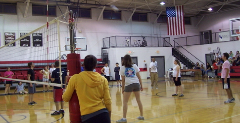 Scene from last year's volleyball game
