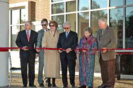 Ribbon cutting at the Dedication