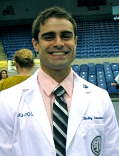 Bobby Lawrence at his whitecoat ceremony