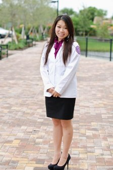 Ting Wong at her whitecoat ceremony