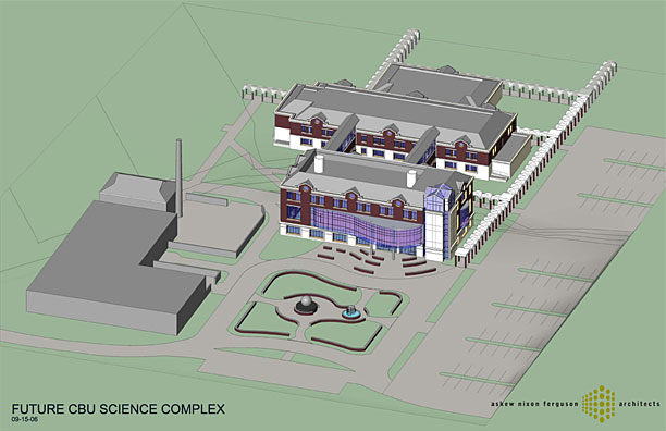 birdseye view of proposed New Science building