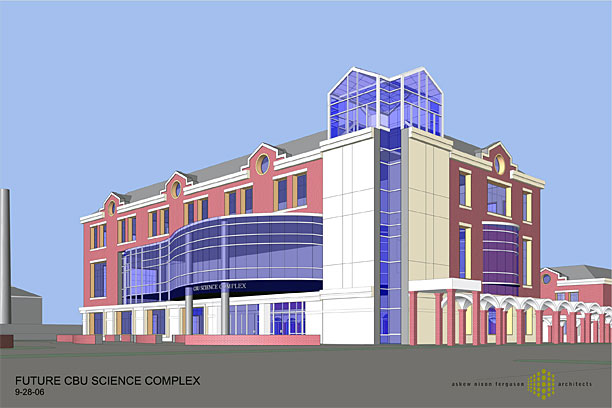 view of proposed New Science building