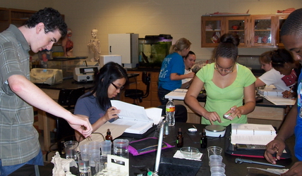 Students in the Principles of Biology I lab