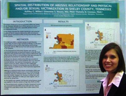 Ashley Miller with her research poster.