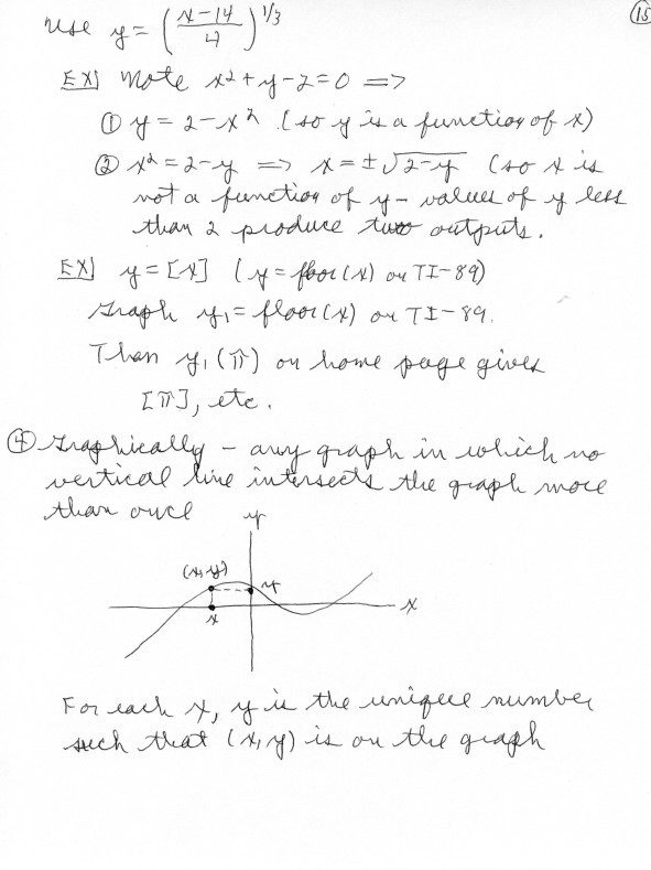 Precalculus Notes - 0425